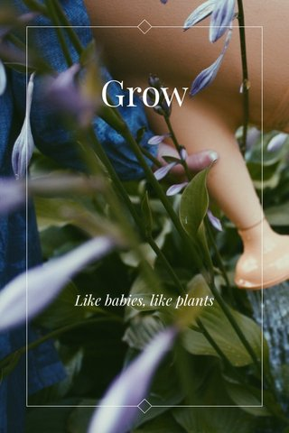 Grow Like babies, like plants