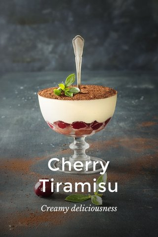 Cherry Tiramisu Creamy deliciousness