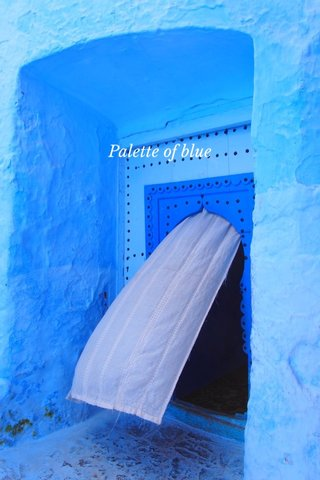 Palette of blue