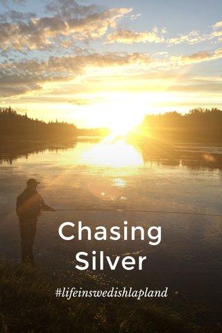 Chasing Silver #lifeinswedishlapland