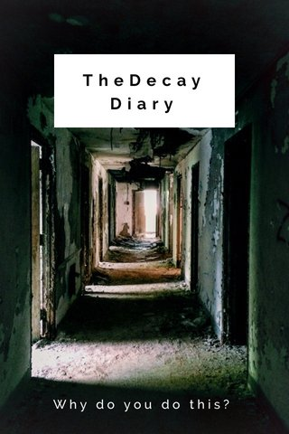TheDecay Diary Why do you do this?