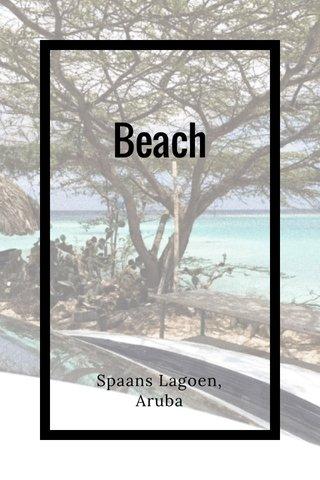 Beach Spaans Lagoen, Aruba