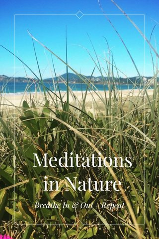 Meditations in Nature Breathe In & Out - Repeat