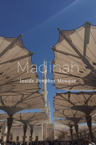 Madinah Inside Prophet Mosque