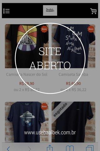SITE ABERTO www.usebaalbek.com.br