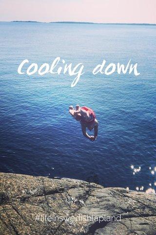 Cooling down #lifeinswedishlapland