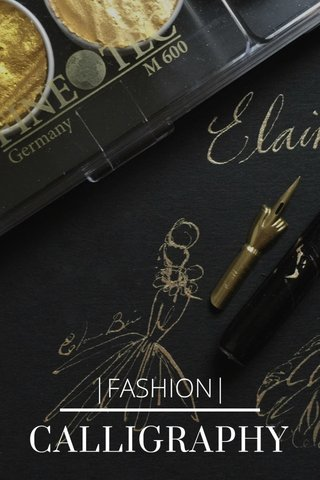 CALLIGRAPHY |FASHION|