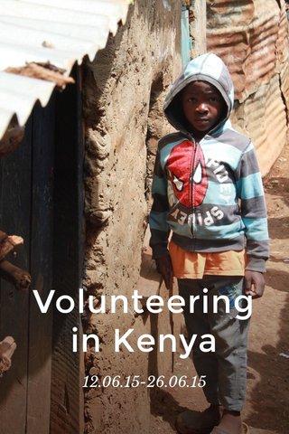 Volunteering in Kenya 12.06.15-26.06.15