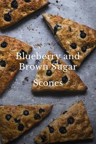 Blueberry and Brown Sugar Scones