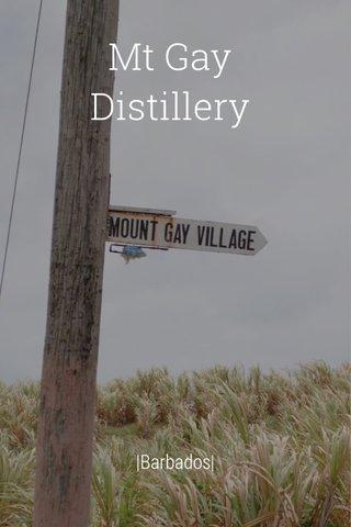 Mt Gay Distillery  Barbados 