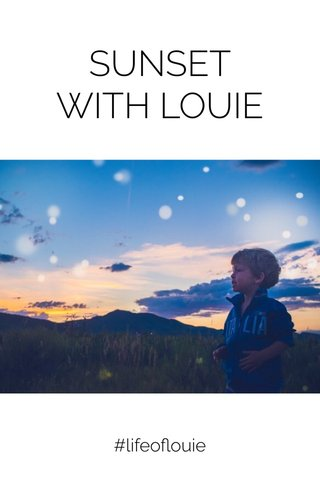 SUNSET WITH LOUIE #lifeoflouie