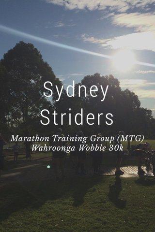 Sydney Striders Marathon Training Group (MTG) Wahroonga Wobble 30k