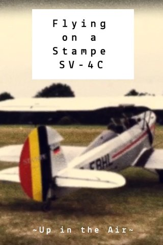 Flying on a Stampe SV-4C ~Up in the Air~