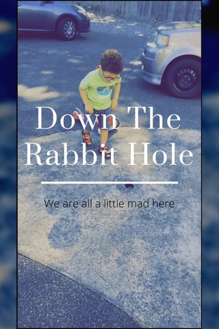 Down The Rabbit Hole We are all a little mad here