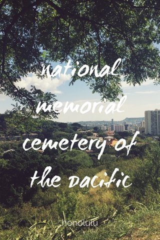 national memorial cemetery of the pacific honolulu