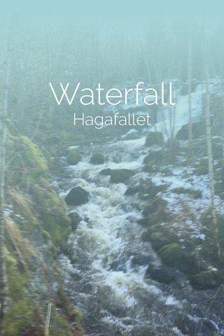 Waterfall Hagafallet