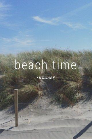 beach time summer