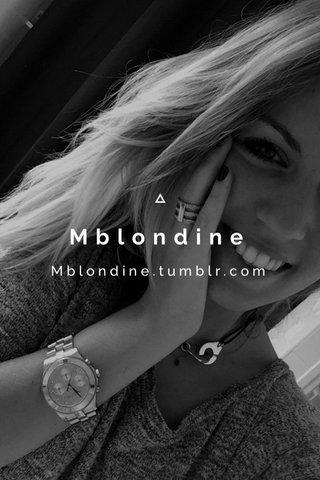Mblondine Mblondine.tumblr.com