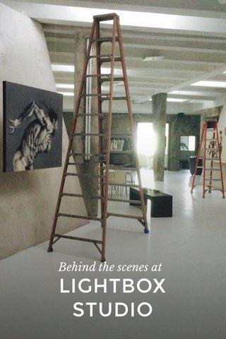 LIGHTBOX STUDIO Behind the scenes at