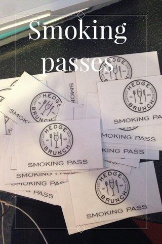 Smoking passes