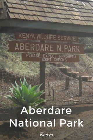 Aberdare National Park Kenya