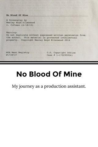 No Blood Of Mine