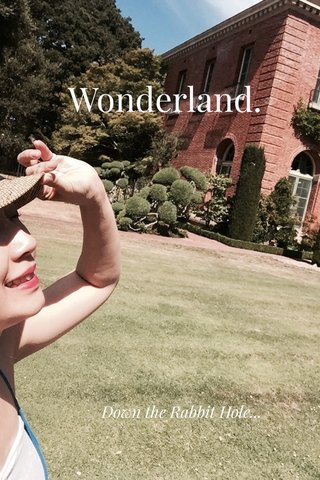 Wonderland. Down the Rabbit Hole...