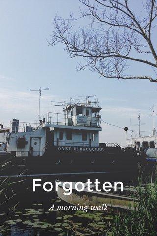 Forgotten A morning walk