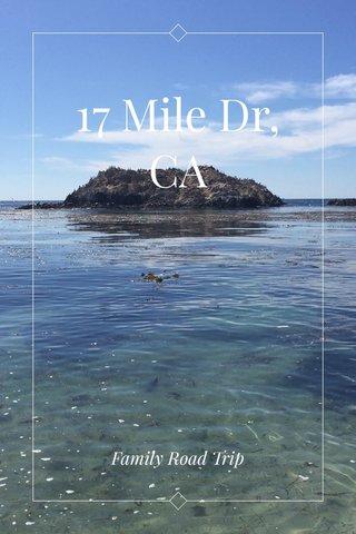 17 Mile Dr, CA Family Road Trip