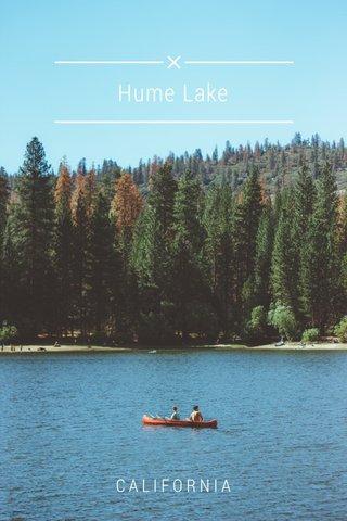 Hume Lake CALIFORNIA