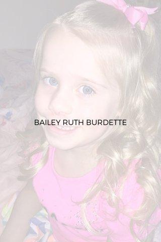 BAILEY RUTH BURDETTE