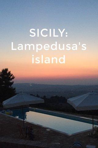 SICILY: Lampedusa's island