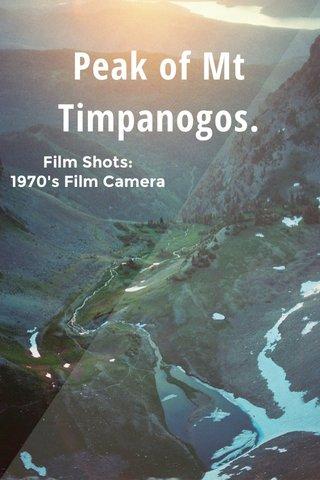 Peak of Mt Timpanogos. Film Shots: 1970's Film Camera
