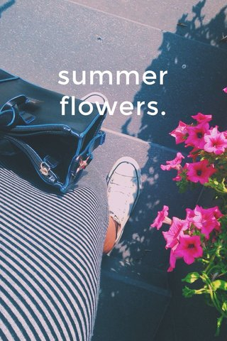summer flowers.