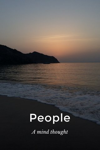 People A mind thought