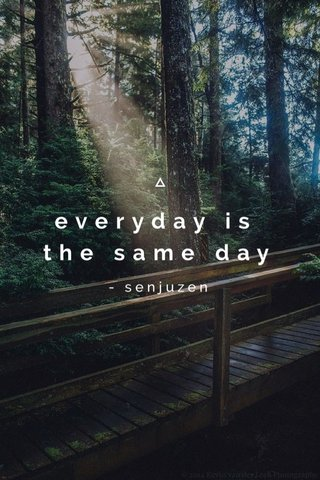 everyday is the same day - senjuzen