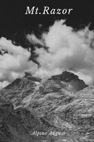 Mt.Razor Alpine August