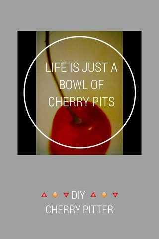 LIFE IS JUST A BOWL OF CHERRY PITS 🔺🔸🔻DIY 🔺🔸🔻 CHERRY PITTER 🔺🔸🔻