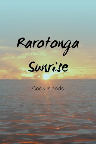 Rarotonga Sunrise Cook Islands