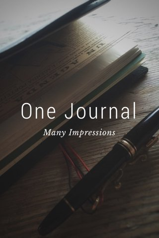 One Journal Many Impressions