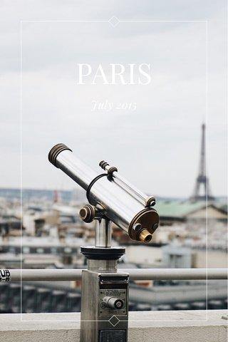 PARIS July 2015