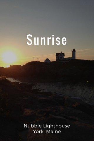 Sunrise Nubble Lighthouse York, Maine