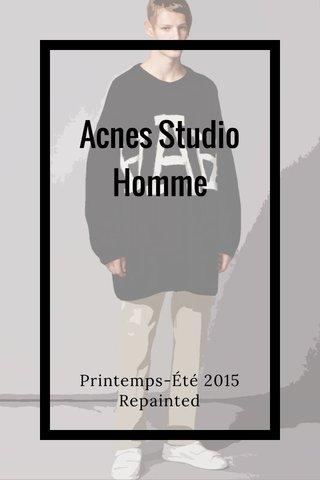 Acnes Studio Homme Printemps-Été 2015 Repainted
