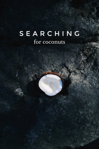 SEARCHING for coconuts