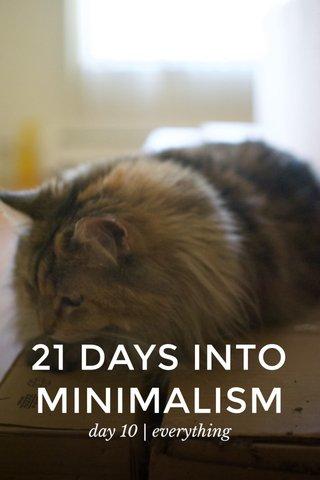 21 DAYS INTO MINIMALISM day 10 | everything