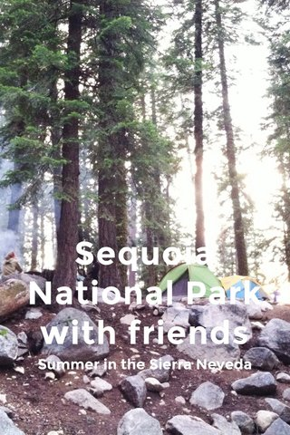 Sequoia National Park with friends Summer in the Sierra Neveda