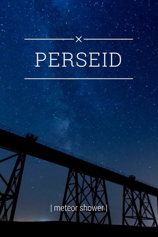 PERSEID | meteor shower |