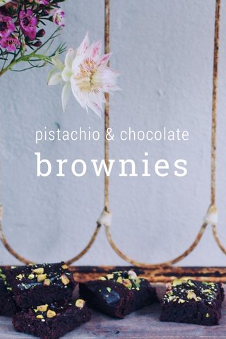 brownies pistachio & chocolate