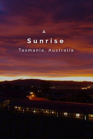 Sunrise Tasmania, Australia