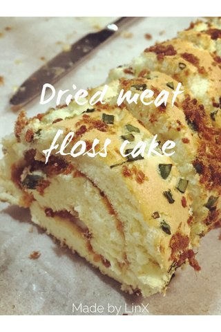 Dried meat floss cake Made by LinX